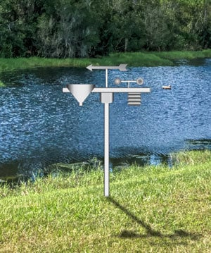 weather station placement next to water