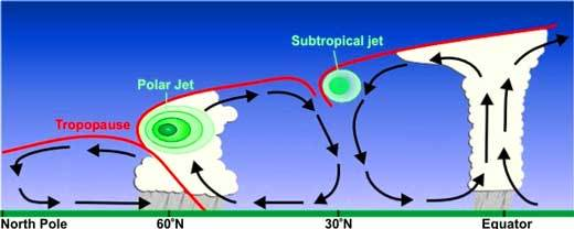 Polar And Subtropical Jet Stream