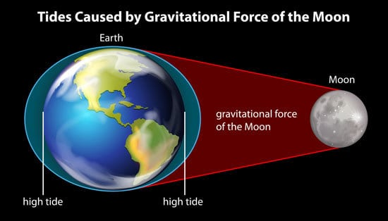 Gravitational Force Of The Moon On Earth