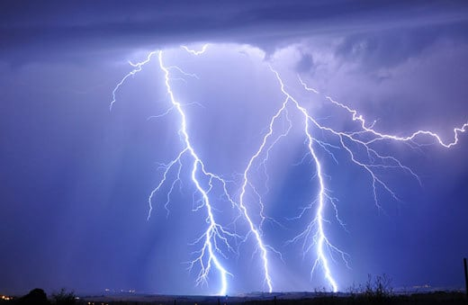 Lightning Strikes The Earth's Surface 100 Times Per Second