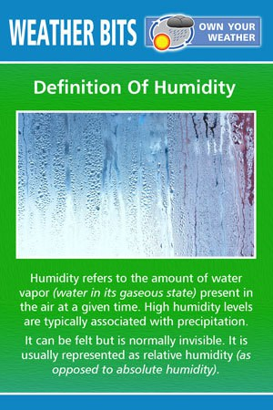 Definition Of Humidity