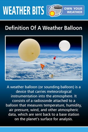 Definition Of A Weather Balloon
