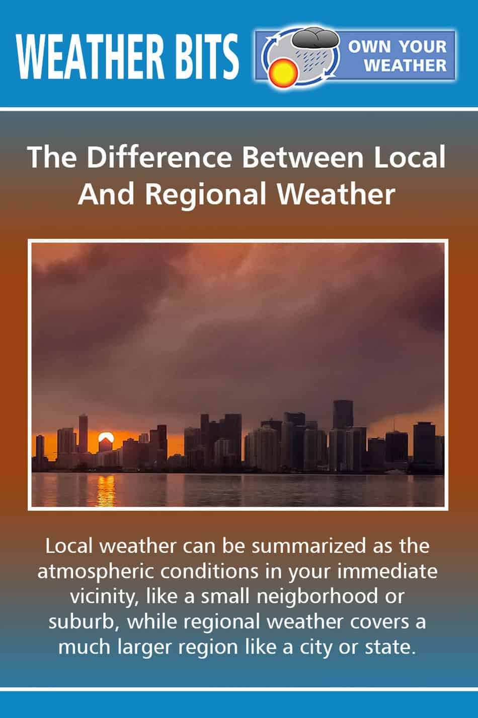 The Difference Between Local And Regional Weather