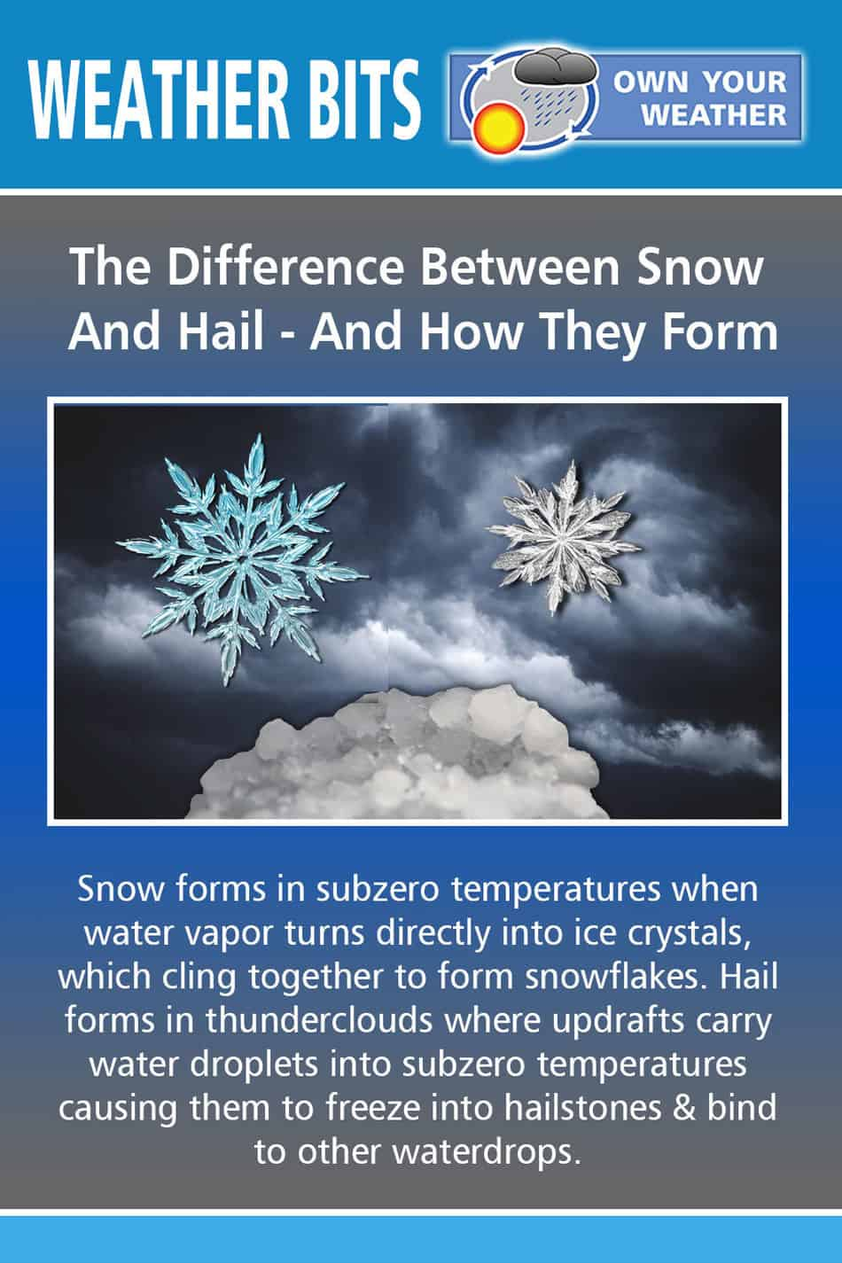 The Difference Between Snow And Hail - And How They Form